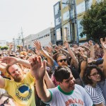Crowd at the Noise Pop 20th St. Block Party 2018, by Ian Young