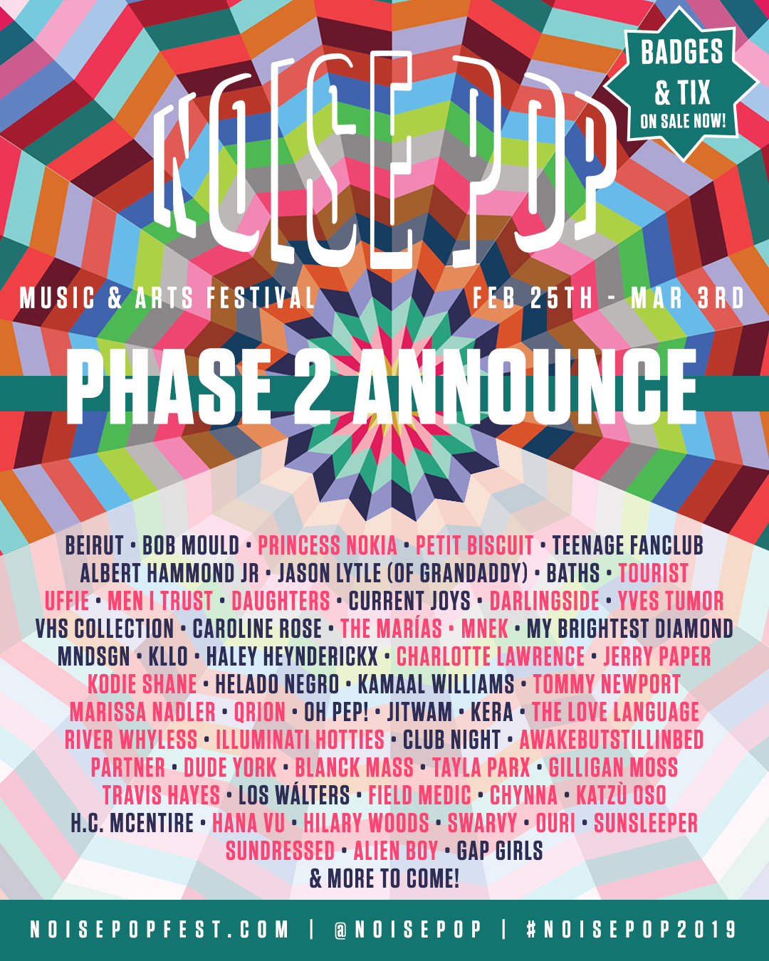Noise Pop Festival 2019 - Phase 2 Lineup