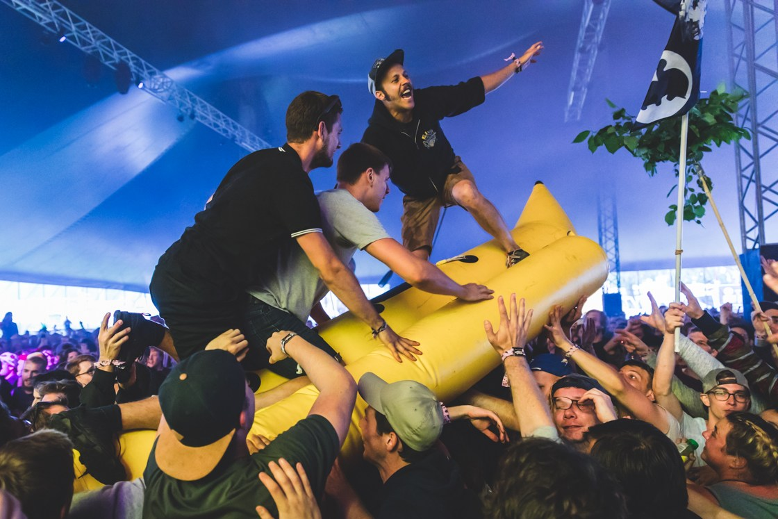 Feine Sahne Fischfilet at Openair St. Gallen Festival 2018, by Ian Young