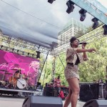 Ari Lennox at Sol Blume 2019 at Cesar Chavez Plaza, by Robert Alleyne