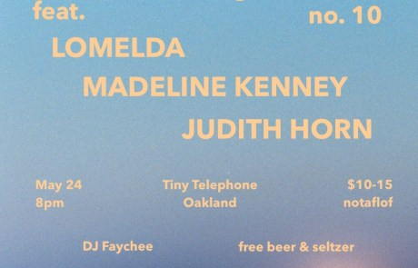 Tiny Telephone to host Lomelda, Madeline Kenney, and Judith Horn