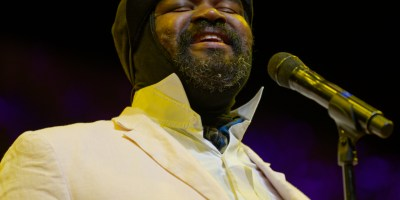 Gregory Porter at the Frost Amphitheater, by Jon Bauer