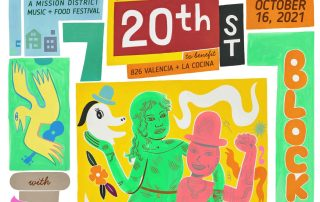 20th Street Block Party 2021 poster
