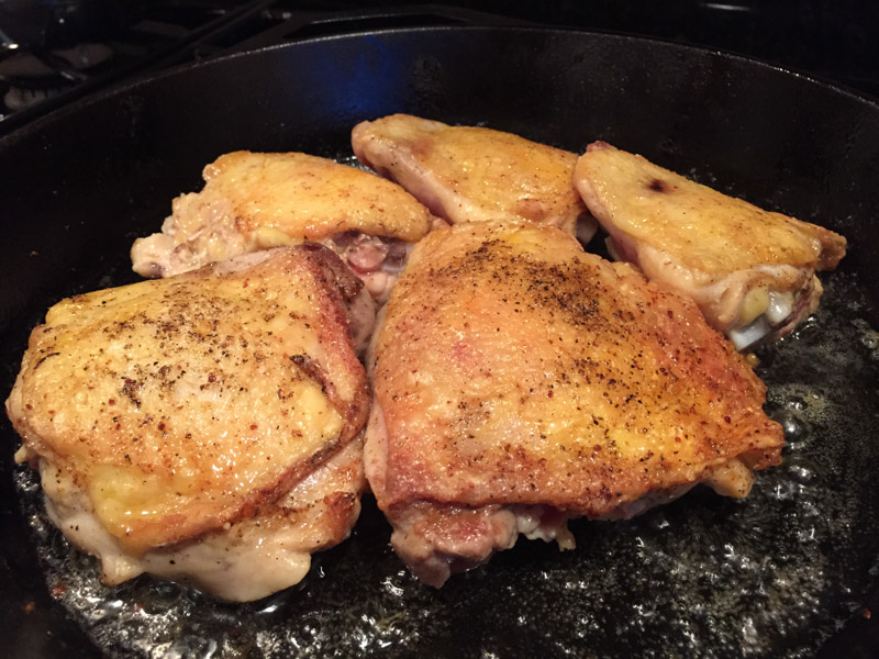 Cast Iron Chicken Adobo