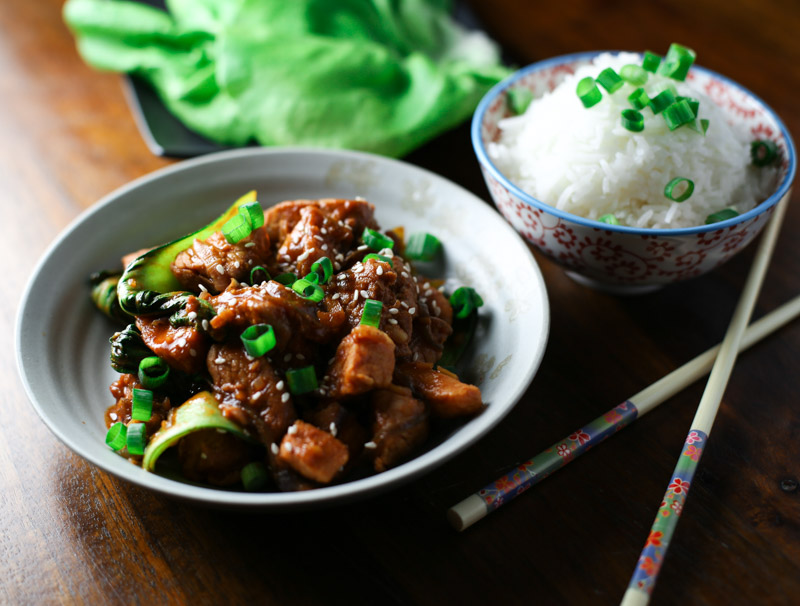 Spicy Korean Pork Stir Fry