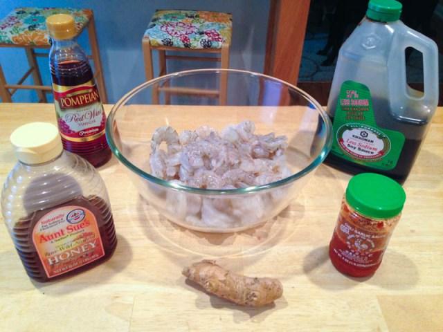 Big Green Egg Ginger Garlic Shrimp Stir Fry
