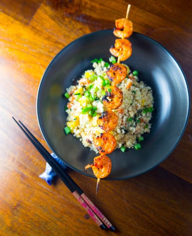 Big Green Egg Korean Shrimp Skewers
