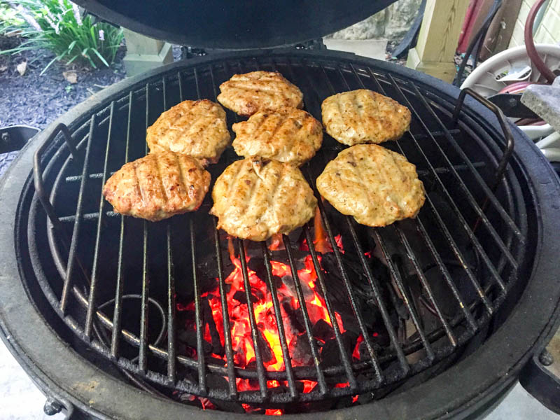 Big Green Egg Spicy Asian Chicken Burger
