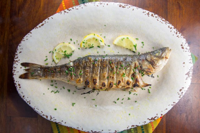 Big Green Egg Grilled Branzino