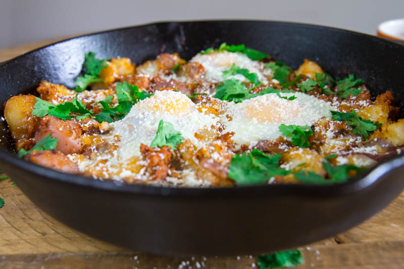 Crispy Chorizo Potato Breakfast Hash