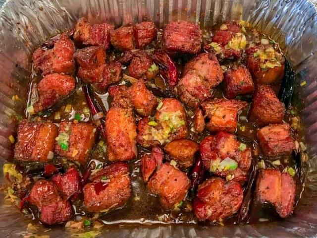 Kung Pao Smoked Pork Belly