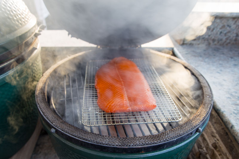 Big Green Egg Cold Smoked Salmon