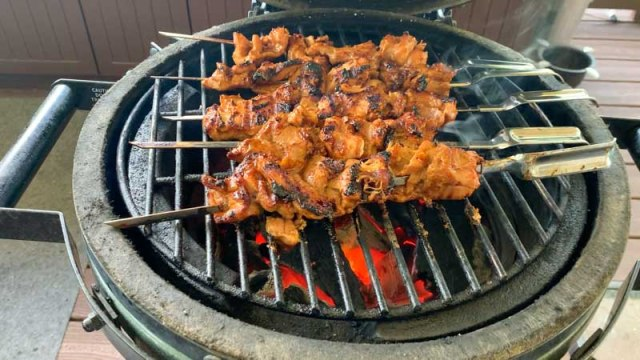 Grilled Red Curry Chicken Skewers with OXO