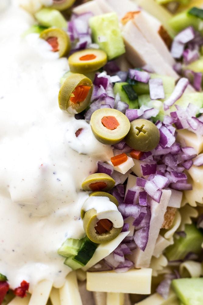 Zesty Twisted Turkey Pasta Salad