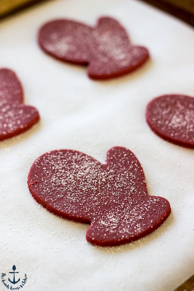 Red Velvet Shortbread Cookies