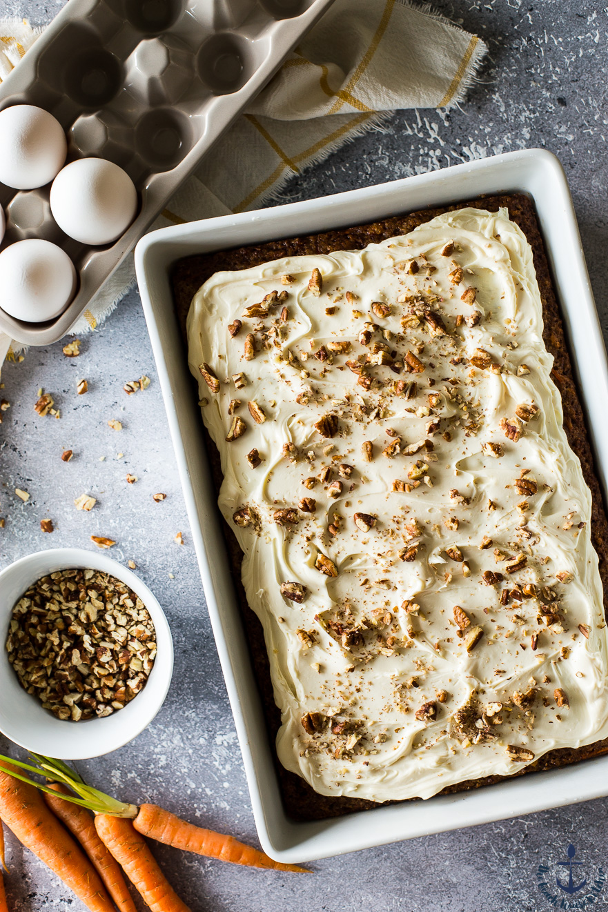 Easy Carrot Cake with Cream Cheese Frosting