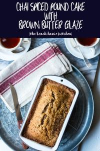 Chai Spiced Pound Cake with Brown Butter Glaze