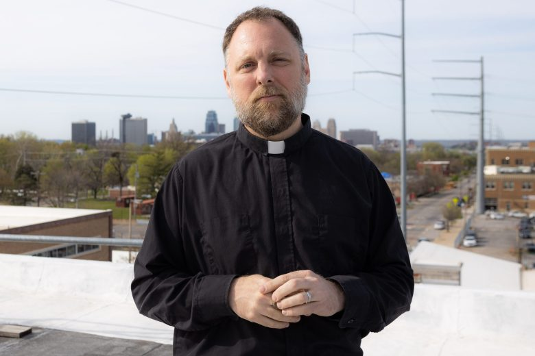 A photograph of Father Justin Mathews, executive director of Reconciliation Services.