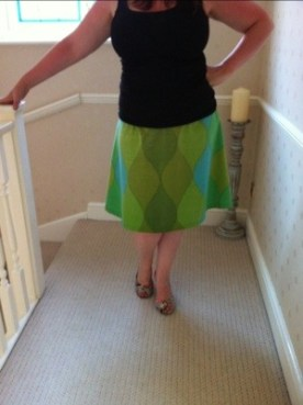 the 1st skirt I made - I also made the pattern for this