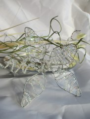 Large side flower tiara