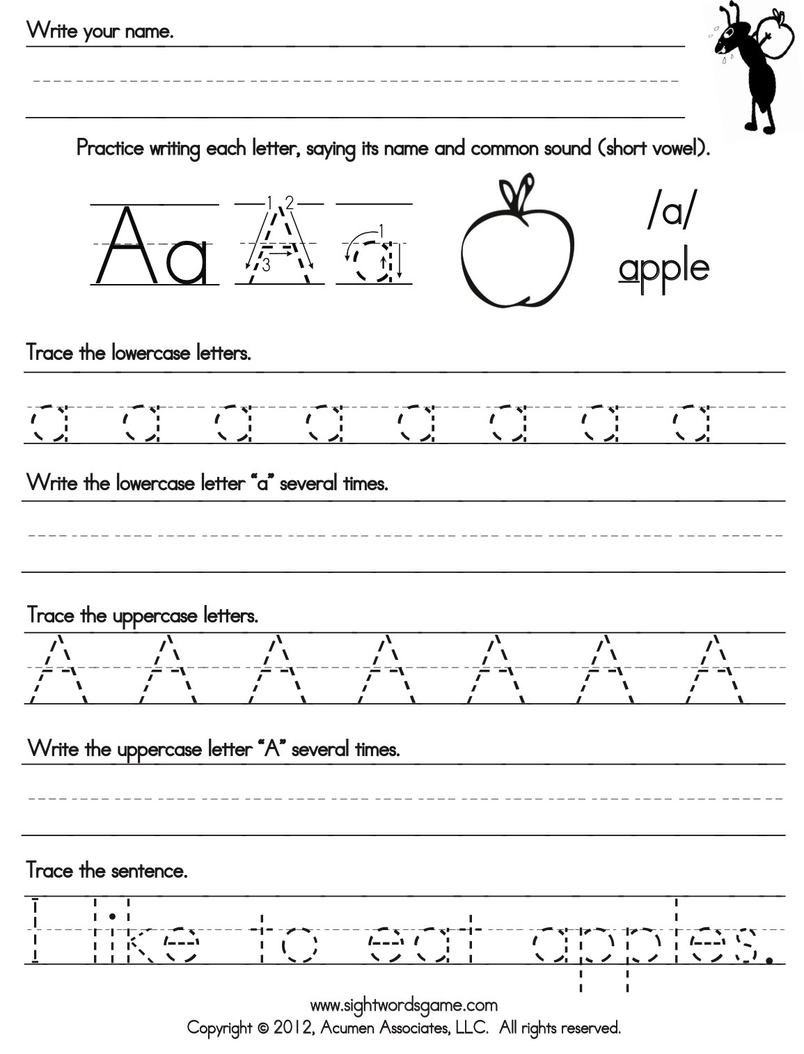 Abc Writing Worksheet Round Up