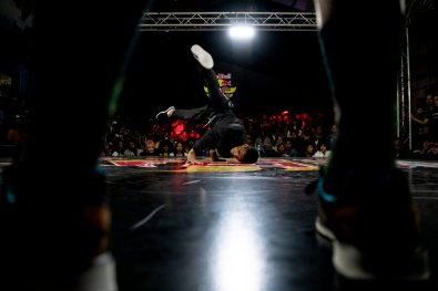 B-Boy Meaty performs during Red Bull BC One Cypher in Cape Town, South Africa on April 27, 2019.