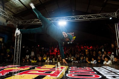 B-Boy Benny performs during Red Bull BC One Cypher in Cape Town, South Africa on April 27,2018