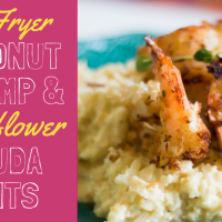 "Coconut Shrimp & Gouda ""Grits"""