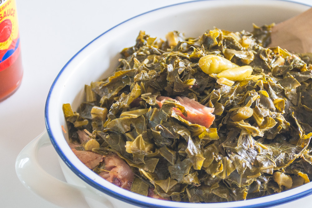 Southern Collard Greens - Stovetop & Pressure Cooker