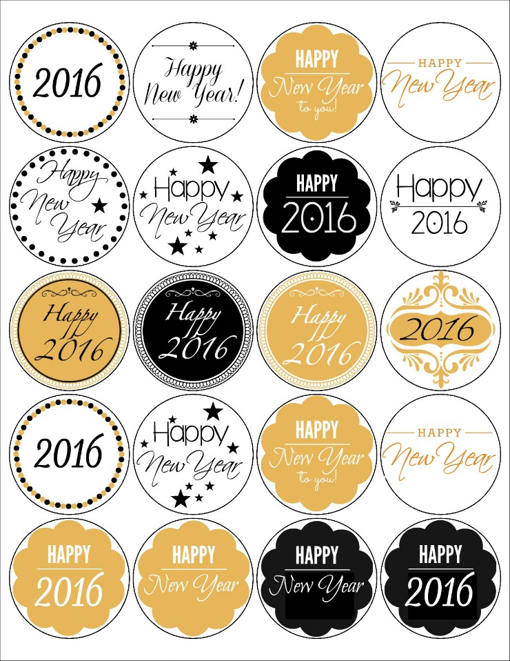 new year labels free