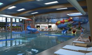 20,000 square foot indoor water park.