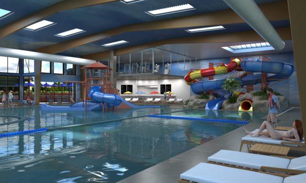 20,000 square foot indoor water park.