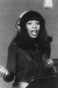 donna summer black and white picture