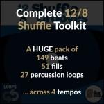 12/8 Drum Loops