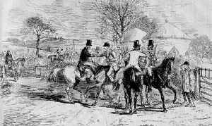 Image of fox hunting during the Regency.