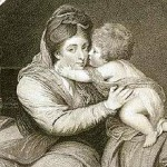 Elizabeth,Lady Melbourne, with her son