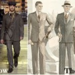 Contrast of styles. 21st Century and 1920s.
