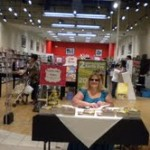 Laurie at booksigning
