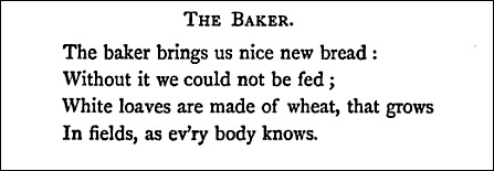 Poem about a baker