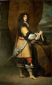 Painting of Prince Rupert in 17th Century Gentleman's Dress
