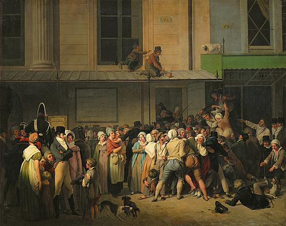 A tenement street scene