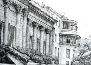 Print of the facade of Park Lane