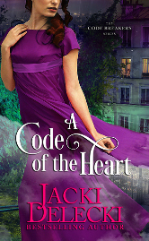 Cover image for A CODE OF THE HEART by Jacki Delecki
