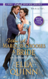 Cover image for WHEN A MARQUIS CHOOSES A BRIDE by Ella Quinn