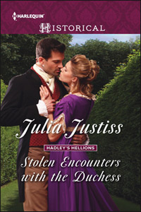 Cover image for Stolen Encounters with the Duchess by Julia Justiss.