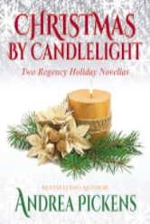 Cover image for BY CANDLELIGHT: TWO REGENCY HOLIDAY NOVELLAS by Andrea Pickens