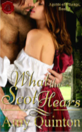 Cover image for What the Scot Hears by Amy Quinton