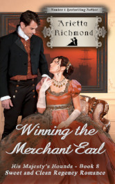 Cover image for WINNING THE MERCHANT EARL by Arietta Richmond