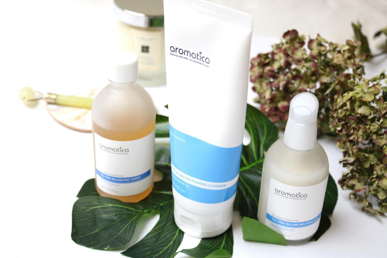 Troubled skin? Try the Korean Aromatica Tea Tree line!