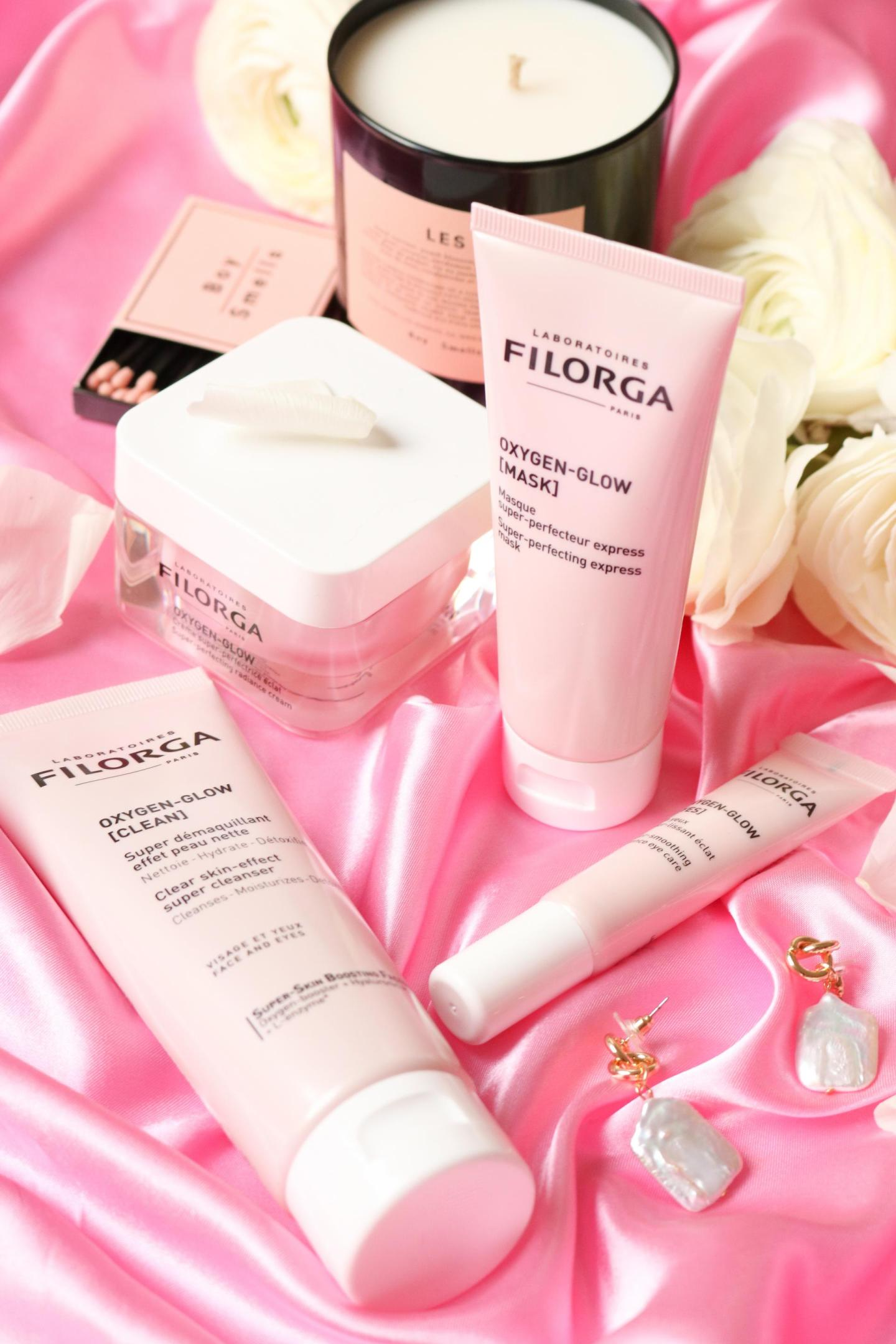 Filorga Oxygen-Glow Mask, Eye, Clean and Creme all together